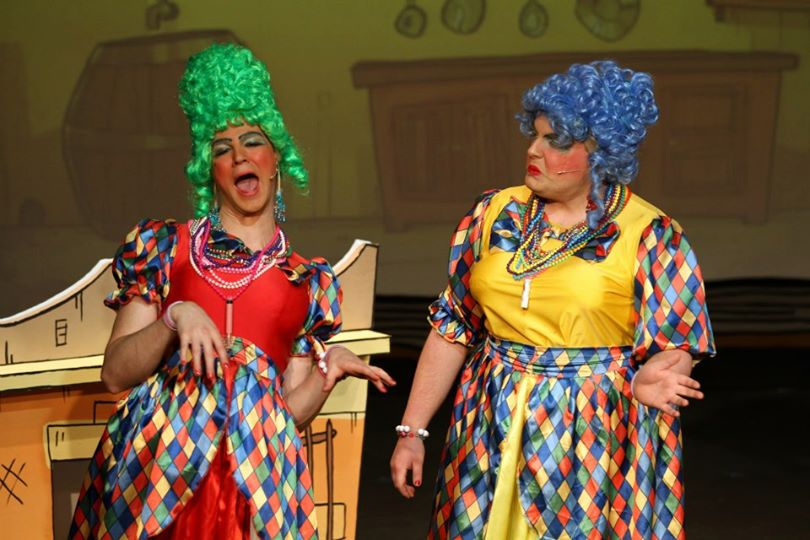 Ugly Sister in Cinderella Panto